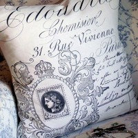 The Rue Vivienne French Design Cotton and Burlap by JolieMarche