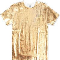 Gold Foil Pocket T-Shirt