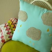 Rainy Days and Mondays Pillow by OIive on Etsy