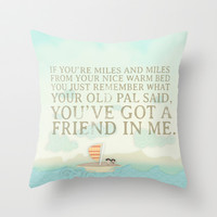 Buzz and Woody.. wou've got a friend in me pirate poster Throw Pillow by studiomarshallarts