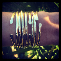 Sunrise Brass Bangles Set of 5