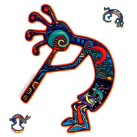 Kokopelli 2-Sided Window Sticker on Sale for $3.99 at HippieShop.com