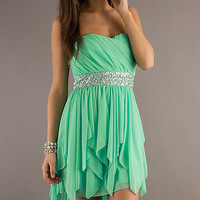 Strapless High Low Dress,2013 Spring Prom Dresses