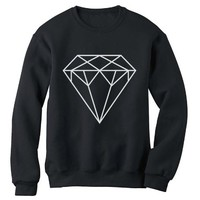 Green Turtle - DIAMOND Black Medium Sweatshirt