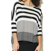 Variegated Stripe Dolman Top | Wet Seal