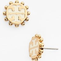 Tory Burch 'Winslow' Logo Stud Earrings | Nordstrom