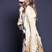 Free People Womens Storm Warning Lacey Suede Jacket