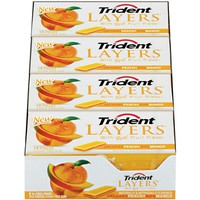 Trident Layers Sugarfree Gum - Orchard Peach + Ripe Mango - 8 x 14 Pieces