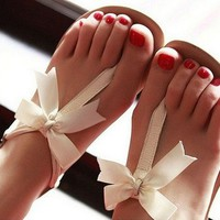 00-BOWKNOT IS FLAT SANDALS-15 from Shuacyde