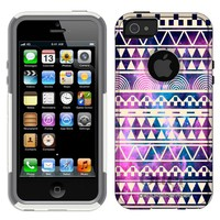 Otterbox Commuter Series Nebula White Aztec Galaxy Hybrid Case for Apple iPhone 5 & 5S