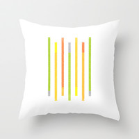 Lines Throw Pillow by littlestlee