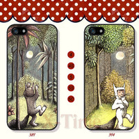 Where the Wild Things are, iPhone 5 case iPhone 5c case iPhone 5s case iPhone 4 case iPhone 4s case, Samsung Galaxy S3 \S4 Case--X01