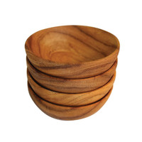 Ariana Teak Round Bowls - Set of 4