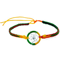Rasta Dreamcatcher Bracelet on Sale for $3.99 at HippieShop.com