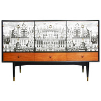 "Rare Circa 1950 Buffet with a ""Rome"" Decor by ""Fornasetti"" - England"