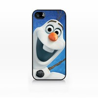 Olaf, Disney Frozen-iPhone 4 case, iPhone 4s case, Hard Plasic, Black case SCC-IP4-010 BLACK