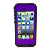 New Waterproof Shockproof Dirtproof Snowproof Protection Case Cover for Apple Iphone 5 (Purple)