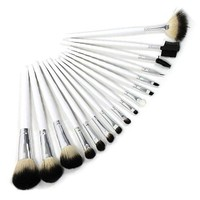 16 Pcs Makeup Brush Set Goat Hair Blush Gloss with Pouch Case