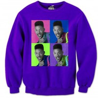 Fresh Prince Belair 5s Purple Crewneck