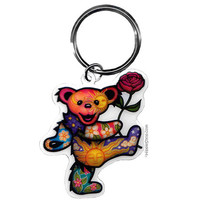 Grateful Dead - Day/Night Dancing Bear Keychain on Sale for $4.99 at HippieShop.com