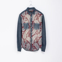COMBINED PAISLEY DENIM SHIRT