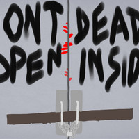 Don't Open Dead Inside, Walking Dead Art Print by Impossible Girl