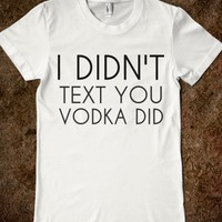 VODKA TEXT WHT TEE JRS