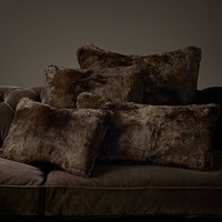 Luxe Faux Fur Pillow Collection - Sable