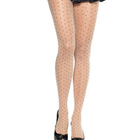 Polka Dot Pin-Up Fishnet Pantyhose