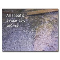 A Rainy Day, and You