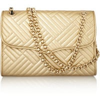 Rebecca Minkoff Metallic leather shoulder bag – 48% at THE OUTNET.COM