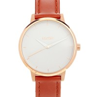Nixon Kensington Brown Leather Watch