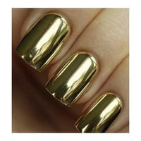 Gold Chrome Metallic Nails - Set of 24