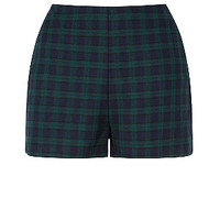 Navy and Green Check Shorts