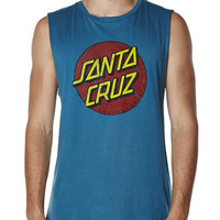 SURFSTITCH - MENS - SINGLETS - SANTA CRUZ VINTAGE DOT MUSCLE TANK - ACID INDIGO