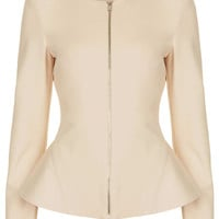 Tailored Zip Peplum Jacket