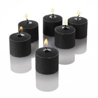 Set of 24 Richland® Votive Candles Black Unscented