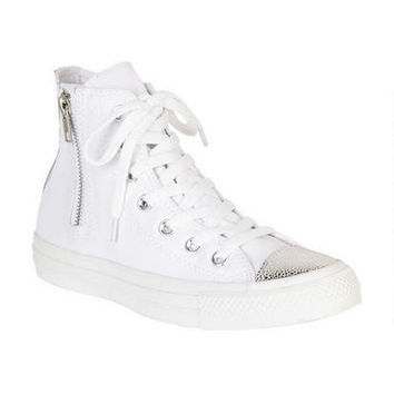 Converse Ox Sparkle Toe Cap Hi-Top - White