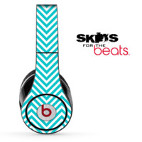 Tiffany Blue Chevron Pattern Skin for the Beats by Dre Solo, Studio, Wireless, Pro or Mixr