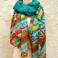Aztec Ridge Scarf [4893] - $10.00 : Vintage Inspired Clothing & Affordable Dresses, deloom | Modern. Vintage. Crafted.