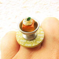 Miniature Food Ring Cake Kawaii Food Jewelry by SouZouCreations