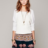 Free People Womens Vintage Print Wrap Mini - Coal Combo,