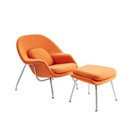 Nest Lounge and Ottoman Set in Orange