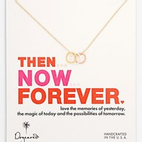 Dogeared 'Then, Now, Forever' Three-Ring Pendant Necklace | Nordstrom