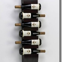 Modern Wooden Wine Bottle Wall Rack : Bars Cigars and Brew