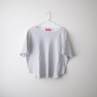 90's Basic Polka Dot Oversized Cropped Tee