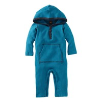 Waffle Hooded Romper (3F22710) | Tea Collection