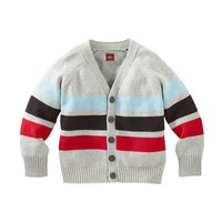Little Boys Striped Cardigan Sweater | Tea Collection