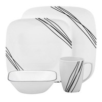 Corelle Square 16-Piece Set, Simple Sketch