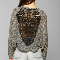 Staring At Stars Crochet-Inset Sweater - Urban Outfitters